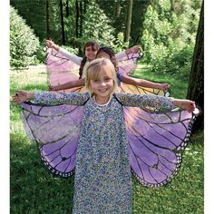 Magic Cabin Fanciful Fabric Butterfly Wings Toys & Creative Play from Magic Cabin on Catalog Spree Fabric Butterfly, Butterfly Party, Butterfly Gifts, Butterfly Birthday, Butterfly Costume, Monarch Butterfly, Butterfly Dress, Diy Wings, Creative Play