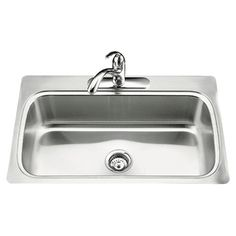 "Kohler Verse 33"" x 22"" x 8-1/4"" Top-Mount Single-Bowl Kitchen Sink with Single Faucet Hole"