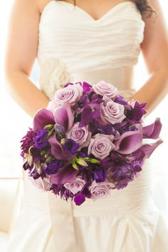 Purple bouquet - Holly & Shane