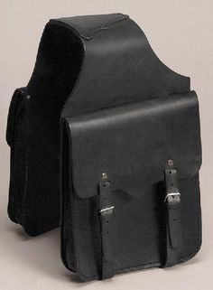 Western Leather Saddle Bags Horse Motorcycle NEW 12 x 14 BLK