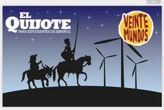 """El #Quijote para estudiantes de español (nivel intermedio) - in Veinte Mundos -- 2016 es el año en que se cumplen 400 años desde la muerte de Miguel de Cervantes (1547-1616). Cervantes ha sido el más grande escritor en lengua española. Su obra capital, """"El ingenioso hidalgo don Quijote de la Mancha"""" se considera la primera novela moderna"""