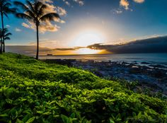Landscape Photography Sunset Maui Hawaii Napili Bay by RRMann