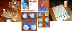 Mini coisas para posteridade: Tutorial miniatura de pratos com materiais recicláveis