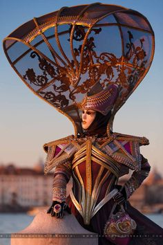 Masquerade - Holy moly!  That's some headpiece!  Perhaps it is just for popping out to the supermarket.  ;-)