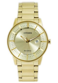 Citizen Eco-Drive Gold Dial Men's Watch - AW1262-54P