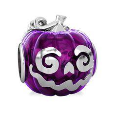 c39812c47 Halloween Pumpkin Pepo Luxe Color™ Enamel Bead Charm - Jewel Purple  Halloween Beads, Halloween