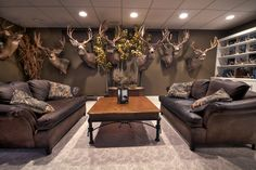 Hunting room, Trophy rooms, Man cave home bar, Bars for home, Man. The Effective Pictures We Offer Deer Hunting Decor, Deer Head Decor, Hunting Rooms, Hunting Man Caves, Hunting Bedroom, Deer Mount Decor, Elk Hunting, Archery Hunting, Garage Metal