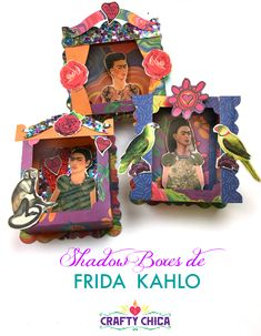 July is the month that marks both the birth and death of famous Mexican painter, Frida Kahlo. I thought it would be fitting to make something in her honor to spread inspiration!  These shadow boxes are a perfect way to do that!Between the papers, the collage sheet and the die design, the mixing and matching was endless. I included links to all the supplies I used, you'll want to use them for a lot of other projects all year round. For now, it's all about FRIDA!  Here's a video tutorial I…