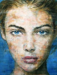 Harding Meyer 1964 | Brazilian Portrait painter | The portraits' subject maintains a direct stare giving each piece an almost eerie and mysterious ambiance | Detail