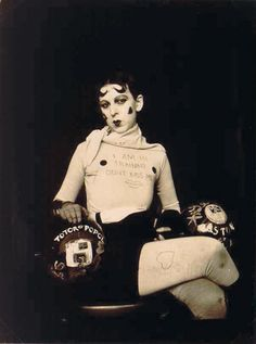 Artist Claude Cahun, Self-Portrait, 1927