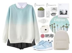 """""""flowers and dreams."""" by alexandra-provenzano ❤ liked on Polyvore featuring moda, PB 0110, NIKE, Nixon, CASSETTE, NARS Cosmetics ve Goody"""
