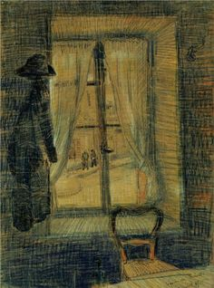 Window in the Bataille Restaurant - Vincent van Gogh, 1887