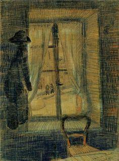 Window in the Bataille Restaurant - Vincent van Gogh - 1887
