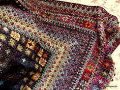 """""""Oriental Rug"""" crochet granny square afghan.  This makes me wonder where the name """"Afghan"""" originated; And also where this beauty was made?"""