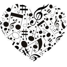 Musical Note Love Heart Wall Art Sticker Wall Decal Transfers | eBay