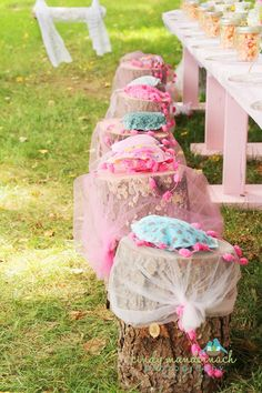 cute seat cushions for a tea party - Daisy Pink Cupcake