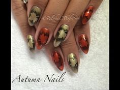 Autumn / Fall nails! CND Shellac   Empower Nail Art - http://47beauty.com/nails/index.php/nail-art-designs-products/    A cool autumn / fall nail design using the following: CND Shellac in Fine Vermilion & Locket Love. CND Additive in Gold Adorned – all professional products available at sweetsquared.com Onyx Black pigment available at the Colour Shack on eBay Uk here: http://pages.ebay.com/link/?nav=item.view&alt=web&id=271246467137 Leaf craft lunch avai