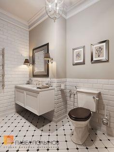 Дизайн ванной комнаты в стиле американской неоклассики
