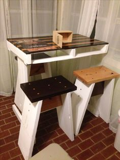 High Top Table And Stools
