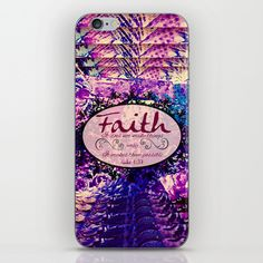 """""""Faith"""" via The Faithful Canvas by Ebi Emporium on Society 6, Colorful Fine Art Abstract Floral Geometric Purple Plum Blue White Black Luke Bible Verse Jesus Christ God Typography Design Tech Device Vinyl Skin iPhone iPod Decal Stylish Chic Techie Gift for Her #art #faith #christian #typography #fineart #purple #tech #device #skin #decal #iPhoneskin #iPhone #iPod #girly"""