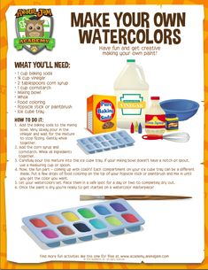 Make your own watercolors | Animal Jam Academy