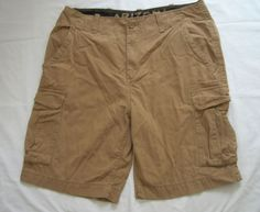 ARIZONA Cargo Shorts Size 36 Tan 100% Cotton  #ArizonaJean #Cargo