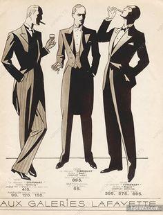 Original vintage published in 1924 Au Bon Marché (Catalog Men's Clothing) Signed Boris, Dandy — , Department stores