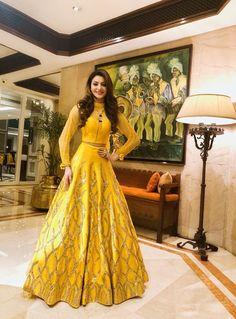 Lehenga is very good...Fabric Quality is good...Length is a Perfect. #lehenga #Wedding Kalamkari Dresses, Yellow Lehenga, Knitting Dolls Clothes, Lehenga Choli Online, Doll Dress Patterns, Dress Cake, Gowns Online, Indian Attire, Wedding Gowns