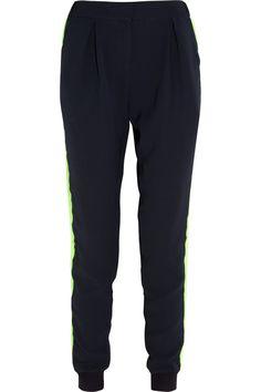 Emma Cook Tapered lightweight twill pants NET-A-PORTER.COM