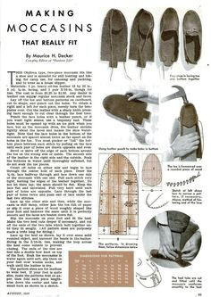 Written by Maurice H. Decker Camping Editor of Outdoor Life Magazine it originally appeared in the August 1937 issue of Popular Science. Schenk found it and republished it on April 9 2010 on Mister Crew. Diy Sac Pochette, Do It Yourself Fashion, Creation Couture, Camping Survival, Bushcraft Camping, Survival Kits, Leather Projects, Mountain Man, Outdoor Life