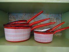 French Vintage Enamelware/Graniteware Handle by TwoCherubsAntiques, $185.00