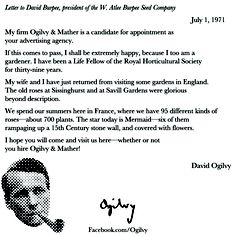 david ogilvy shows how a stellar follow up looks in a memo on july 1971 ogilvy mathercreative advertisinginspiration quoteson - Ogilvy Mather Ad Agency
