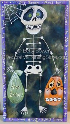 Dry Bones Halloween Banner ePattern - Betty Bowers - PDF DOWNLOAD