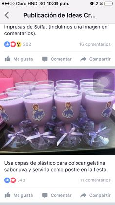 Sofia the First Princess Party GOBLETS Cups/ Decorations/ party cups/ princess party/ disposable cups/ party favors Princess Sofia Birthday, Sofia The First Birthday Party, Disney Princess Party, 4th Birthday Parties, Cinderella Party, Prince Party, Party Cups, First Birthdays, Party Favors