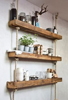 Official Website Antique Rustic Pine Wall Mounted Shelves Kitchen Whatnot Collectors Shelving