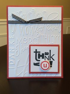 could be done with various backgrounds.  embossed or patterned paper Stampin' Up! - Alphabet Soup