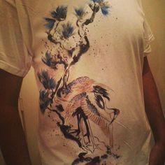 T-shirt da uomo dipinta a mano