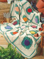 Grandmothers Zinnia Afghan