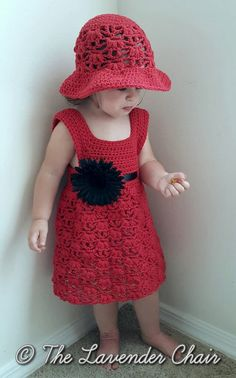 Weeping Willow Toddler Dress Crochet Pattern by TheLavenderChair