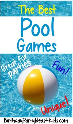 The best Swimming Pool Party Games! Great for swim parties, birthdays, pool par. - The best Swimming Pool Party Games! Great for swim parties, birthdays, pool parties or anytime! Swimming Pool Games, Pool Party Games, Outdoor Party Games, Pool Party Kids, Adult Party Games, Kid Pool, Birthday Party Games, Party Party, Luau Birthday