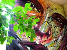 Street art by Hopare in Limours, France
