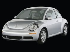 Stickers! Decals! Eyelashes for auto! Beetle bug! Rounded headlights! VW car