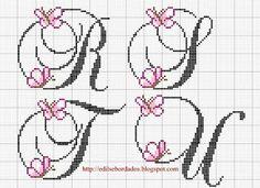 Edilse Bordados: Monogramas com borboletas