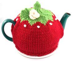 Red Knit Tea Cozy OOAK - Tea Cozy. $24.00, via Etsy.....idea