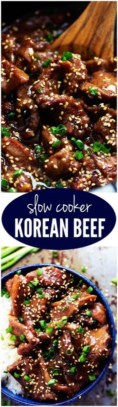 Slow Cooker Korean Beef - Amazing and flavorful beef that slow cooks to tender melt in your mouth perfection! This will be one of the best meals that you will make! *For a gluten-free entree, be sure to use gluten-free tamari instead of soy sauce! Slow Cooker Korean Beef, Crock Pot Slow Cooker, Crock Pot Cooking, Slow Cooker Recipes, Cooking Recipes, Cooking Time, Slow Cook Beef Recipes, Slow Cooked Beef, Mongolian Beef Slow Cooker Recipe