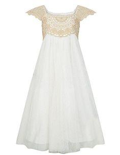 Cdress Lace Applique Tulle Flower Girl's Dresses Wedding ... https://www.amazon.com/dp/B01LYJXGID/ref=cm_sw_r_pi_dp_x_8sD9xbZ3SVND5
