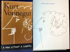 Kurt Vonnegut SIGNED A Man Without A Country First Edition by Kurt VONNEGUT on Yeoman's in the Fork