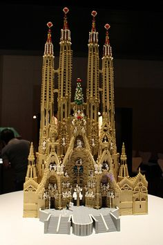 Impressive Lego cathedral castle. Church. Reminds me of Gaudi's La Sagrada Familia.