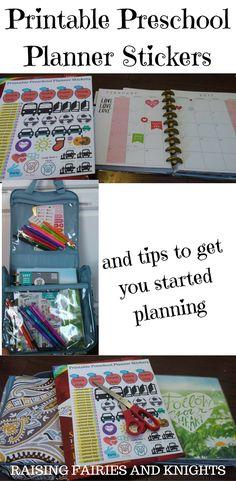 Printable Preschool Planner Stickers - I have made some Printable Preschool Planner Stickers to help make organizing your calendar easier for your Preschooler or Nursery School.