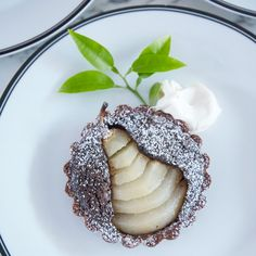 Chocolate Pear Tartlets